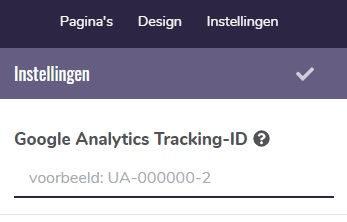 Analytics koppelen aan website