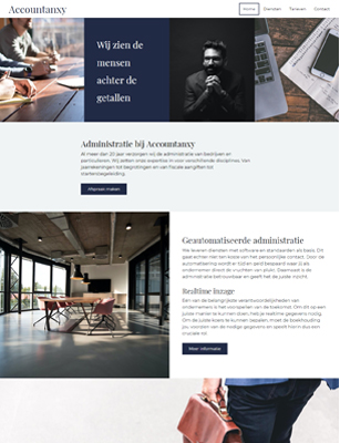 website voorbeeld template 1